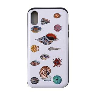 【日本限定モデル】ICカード収納型iPhoneケース(Sea Shells)iPhoneX対応サイズ
