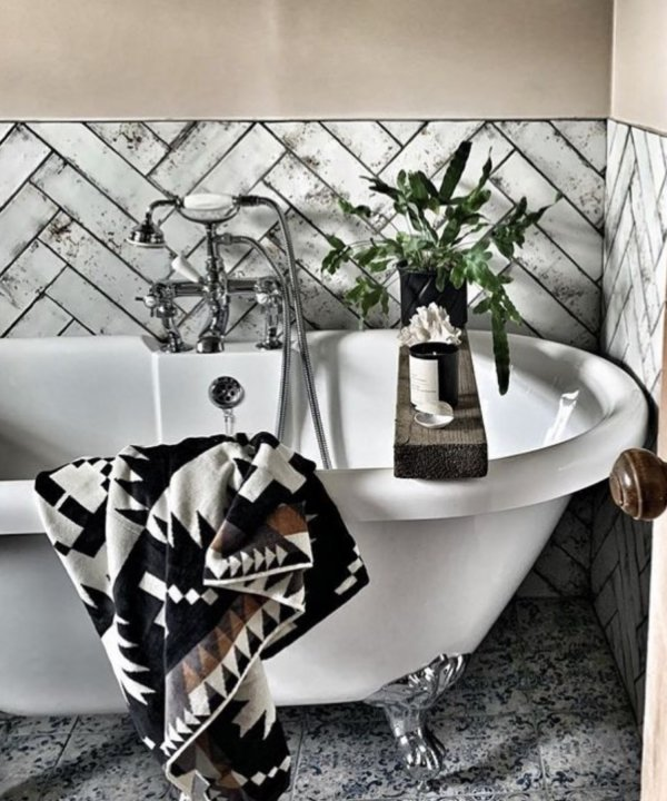 JACQUARD BATH TOWELS/SPIDER ROCK BLACK / WHITE 【PENDLETON OFFICIAL】