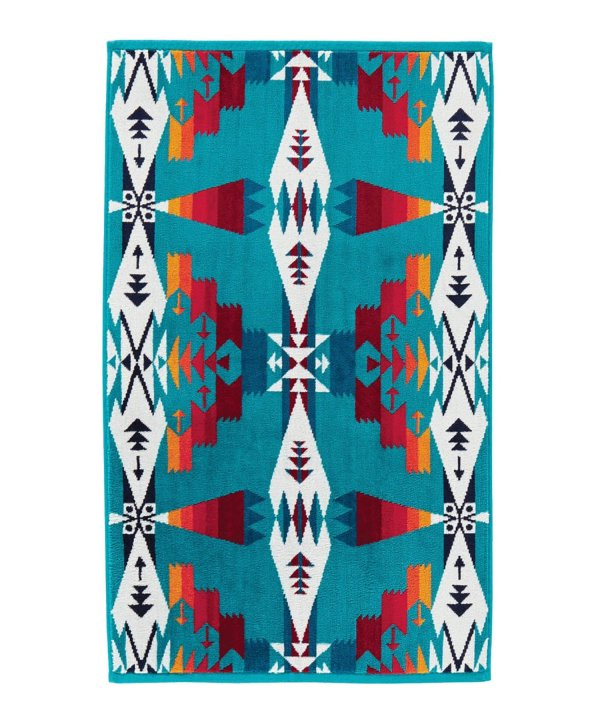 JACQUARD HAND TOWELS/TUCSON TURQUOISE 【PENDLETON OFFICIAL】