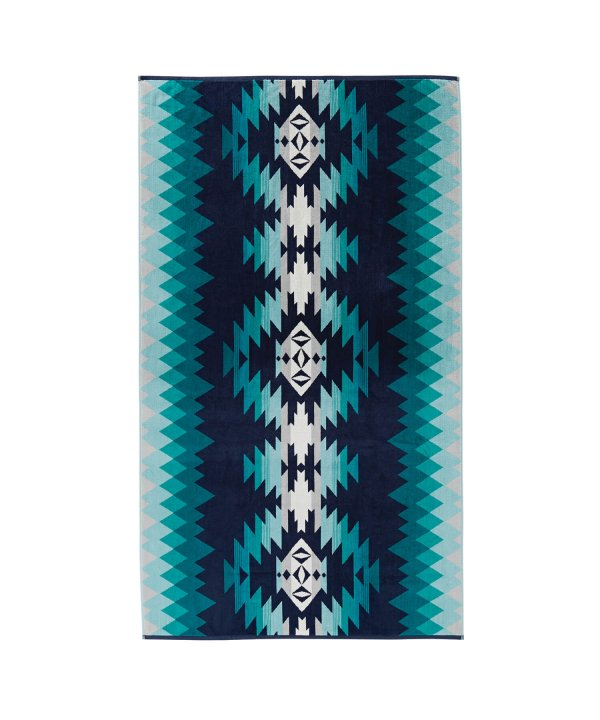 OVERSIZED JACQUARD TOWEL/PAPAGO PARK TURQUOISE 【PENDLETON OFFICIAL】