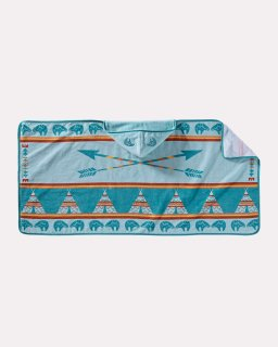 PRINTED HOODED BABY TOWEL/STAR GUARDIAN TURQUOISE 【PENDLETON OFFICIAL】