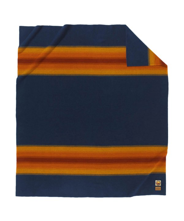 NATIONAL PARK FL BED BLANKET/GRAND CANYON NAVY 【PENDLETON OFFICIAL】