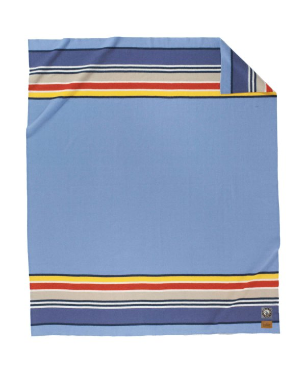 NATIONAL PARK FL BED BLANKET/YOSEMITE LIGHT BLUE