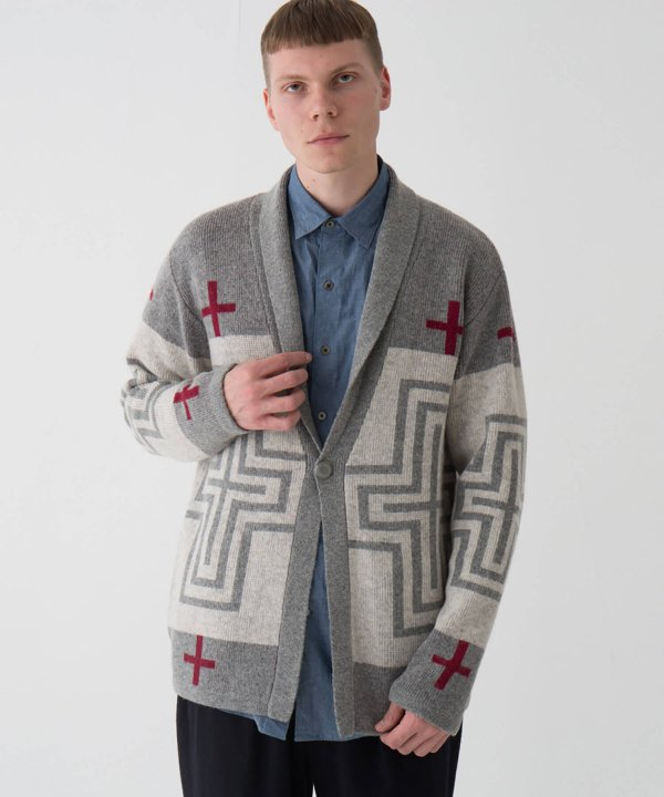<img class='new_mark_img1' src='//img.shop-pro.jp/img/new/icons1.gif' style='border:none;display:inline;margin:0px;padding:0px;width:auto;' />SHAWL COLLAR CARDIGAN/GRAY(SAN MIGUEL) 【PENDLETON OFFICIAL】