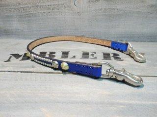 UKサドルレザー/BLUE/ウォレットコード/BR-W,C-001