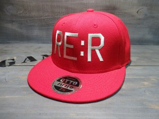 RE:R FUCK THE WORLD CAP・RED