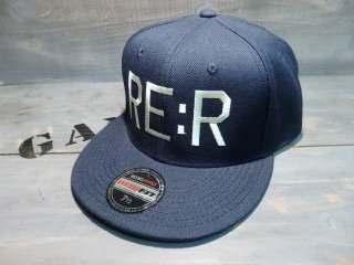 RE:R FUCK THE WORLD CAP・NAVY