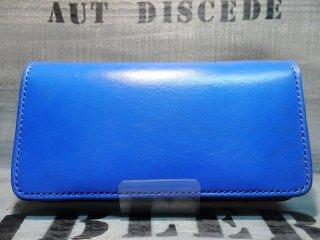 UKサドルレザーウォレット/BR-W-011(BLUE/BLK)