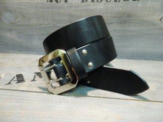 サドルレザー/プレーンベルト/BLACK(45mm)