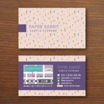 ショップカード【三角模様】ライトピンク