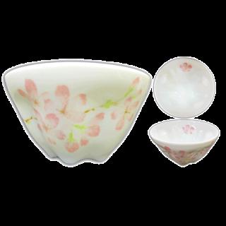 桜型湯呑み(一色桜)