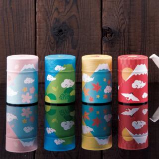 100g和紙缶(四季富士山)