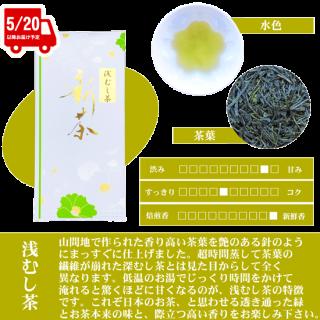 【新茶】松浦製茶の浅むし茶(100g) 販売中