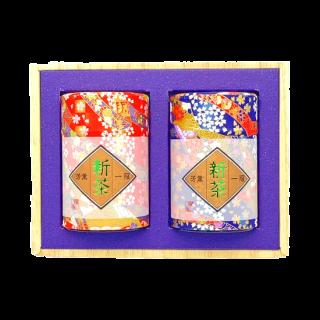 【新茶】高級和紙缶ギフト 5,616円~2,765円