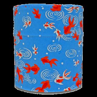 40g和紙缶(金魚・青)