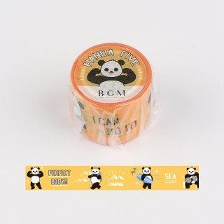 PANDA FIVE マスキングテープ ・パンダイエロー
