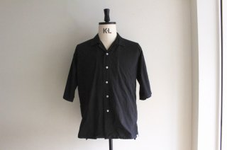 OPEN COLLAR SHRTS(BLACK)