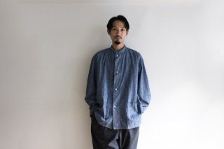 CP GATHER  SHIRTS-CHAMBRAY(BLUE)