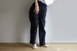 BAKER EASY PANTS-HERRINGBONE(NAVY)