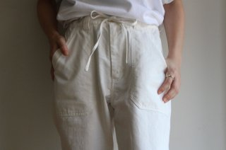 <img class='new_mark_img1' src='https://img.shop-pro.jp/img/new/icons3.gif' style='border:none;display:inline;margin:0px;padding:0px;width:auto;' />BAKER EASY PANTS-HERRINGBONE(WHITE)