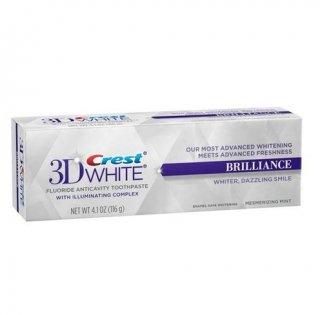 クレスト 3Dホワイト ブリリアンスミント 【116g】<BR>Crest 3D White Brilliance Mint ホワイトニング歯磨き粉研磨剤不使用