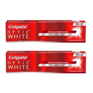 2本セット コルゲート オプティック ホワイト 【130gx2】<br>Colgate Optic White Sparkling Mint Toothpaste
