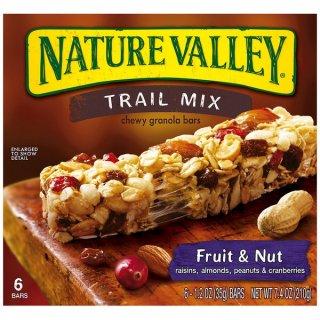 ネイチャーバレー グラノーラバー フルーツ&ナッツ  チューイートレイルミックス 【6本】 Nature Valley Chewy Trail Mix Fruit & Nut