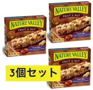 3個セット ネイチャーバレー グラノーラバー フルーツ&ナッツ  チューイートレイルミックス 【18本】 Nature Valley Chewy Trail Mix Fruit & Nut