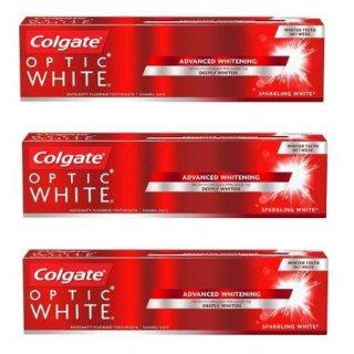 3本セット コルゲート オプティック ホワイト 【130gx3】<br>Colgate Optic White Sparkling Mint Toothpaste