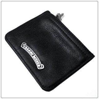 クロムハーツ 財布(Chrome Hearts)ジッパーチェンジパース3×4 ブラック レザー(クロム・ハーツ)