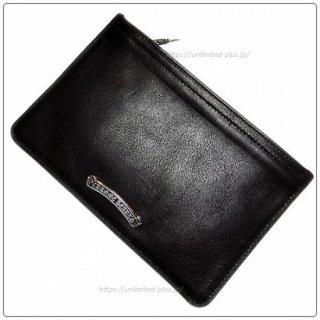 クロムハーツ 財布(Chrome Hearts)ウォレット ジッパーチェンジパース #2 ブラック ヘビーレザー セメタリーパッチ