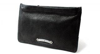 クロムハーツ 財布(Chrome Hearts)ジッパーチェンジパース#2ブラック デストロイレザーウォレット【クロム・ハーツ】【クロムハーツ財布】【名古屋】