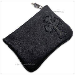 クロムハーツ 財布(Chrome Hearts)ジッパーチェンジパース 4×5 パイピングCEMEブラック レザーウォレット(クロム・ハーツ)