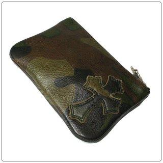 クロムハーツ 財布(Chrome Hearts)ジッパーチェンジパース 4×5 パイピングセメタリー タンクカモレザーウォレット(クロム・ハーツ)