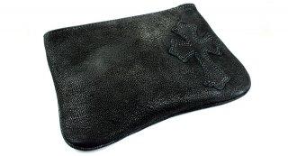 クロムハーツ 財布(Chrome Hearts)ジッパーチェンジパース4×5 パイピングCEMEブラック デストロイレザーウォレット【クロム・ハーツ】【クロムハーツ財布】【名古屋】