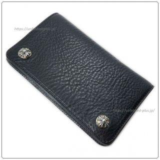 クロムハーツ 財布(Chrome Hearts)ウォレット 1ジップ クロスボタン ブラック ヘビーレザー(クロム・ハーツ)