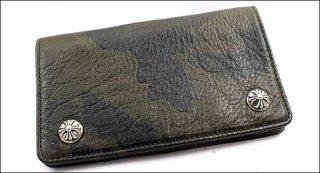 クロムハーツ 財布(Chrome Hearts)ウォレット 1ジップ クロスボタン タンクカモ レザー【クロム・ハーツ】【クロムハーツ財布】【名古屋】