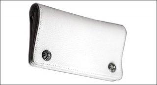 クロムハーツ 財布(Chrome Hearts)ウォレット 1ジップ クロスボタン ホワイト レザー【クロム・ハーツ】【クロムハーツ財布】【名古屋】