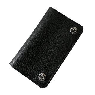 クロムハーツ 財布(Chrome Hearts)1ジップ ケルティック ボタンズブラック ヘビーレザーウォレット【クロム・ハーツ】【クロムハーツ財布】【名古屋】