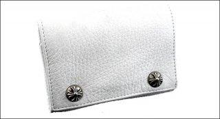 クロムハーツ 財布(Chrome Hearts)3フォールド クロスボタンズ ホワイトレザー ウォレット【クロム・ハーツ】【クロムハーツ財布】【名古屋】