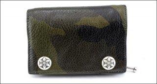 クロムハーツ 財布(Chrome Hearts)3フォールド スターボタン タンクカモレザー ウォレット【クロム・ハーツ】【クロムハーツ財布】【名古屋】