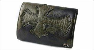 クロムハーツ 財布(Chrome Hearts)3フォールド クロスボタン セメタリーパッチ タンクカモレザー ウォレット【クロム・ハーツ】【クロムハーツ財布】【名古屋】