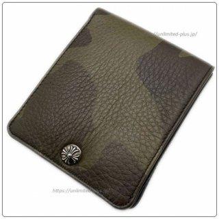 クロムハーツ 財布(Chrome Hearts)ワンスナップ クロスボタン タンクカモヘビーレザー(クロム・ハーツ)