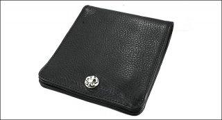クロムハーツ 財布(Chrome Hearts)ワンスナップ BSフレアボタンブラック ヘビーレザーウォレット(クロム・ハーツ)