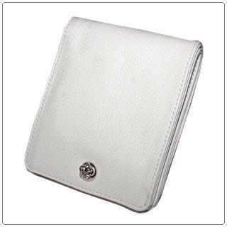 クロムハーツ 財布(Chrome Hearts)ワンスナップ BSフレアボタンホワイト ヘビーレザーウォレット【クロム・ハーツ】【クロムハーツ財布】【名古屋】