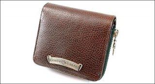 クロムハーツ 財布(Chrome Hearts)スクウェア ジップ ビル ダークブラウンレザーウォレット【クロム・ハーツ】【クロムハーツ財布】【名古屋】