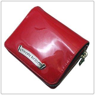 クロムハーツ 財布(Chrome Hearts)スクエア ジップ ビル レッドパテントレザー ウォレット【クロム・ハーツ】【クロムハーツ財布】【名古屋】
