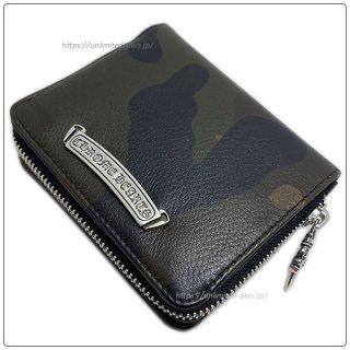 クロムハーツ 財布(Chrome Hearts)スクエア ジップ ビル タンクカモレザーウォレット(クロム・ハーツ)