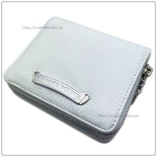 クロムハーツ 財布(Chrome Hearts)スクエア ジップ ビル ホワイトレザーウォレット【クロム・ハーツ】【クロムハーツ財布】【名古屋】