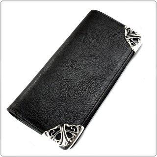 クロムハーツ 財布(Chrome Hearts)ロング シングルフォールド チップス ブラック ヘビーレザー【クロム・ハーツ】【クロムハーツ財布】【名古屋】